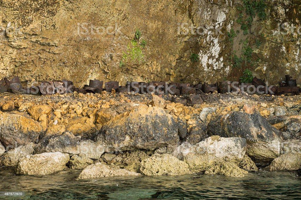Japanese Bunker - Palau, Micronesia stock photo