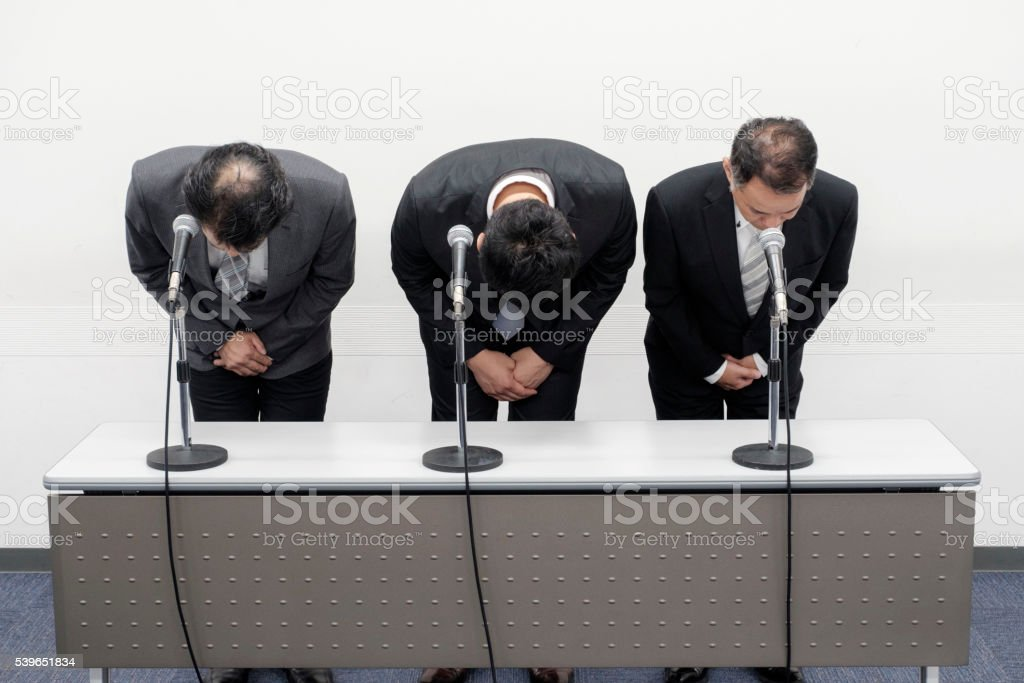 Japanese Business Apology Stock Photo - Download Image Now