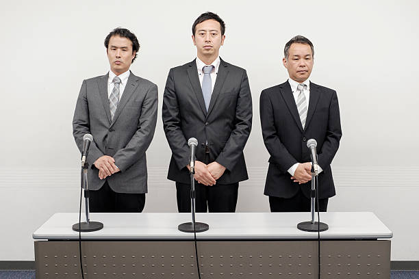 Japanese Business Apology Stock Photo & More Pictures of 30