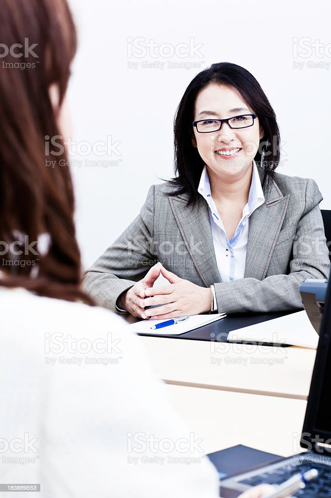 Japanese Business Colleagues royalty-free stock photo