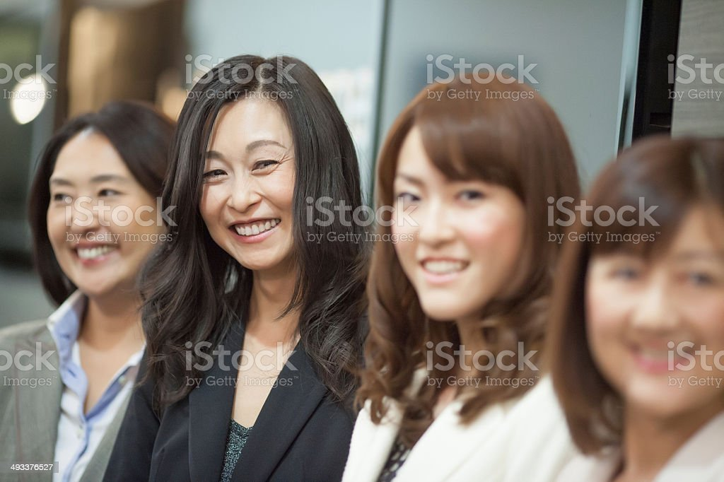 japanese business collegues stock photo