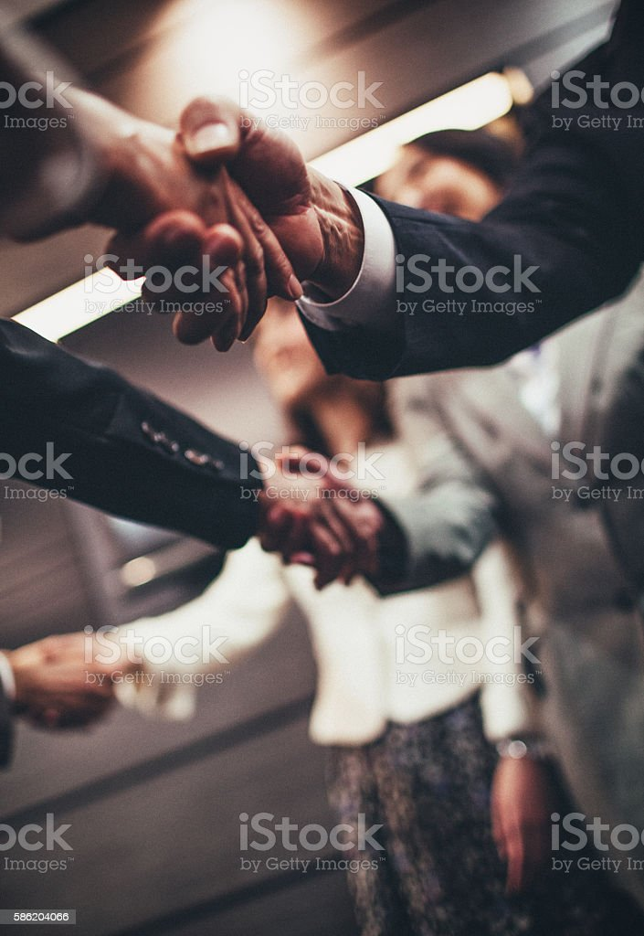 Japanese business deal stock photo