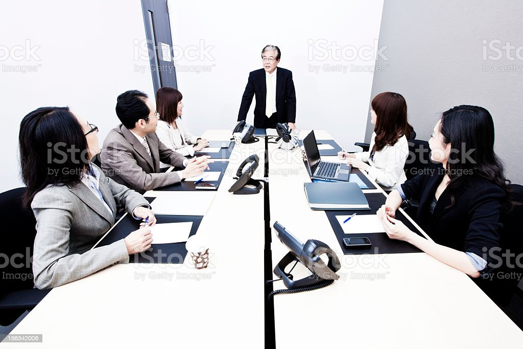 Japanese Business Meeting stock photo