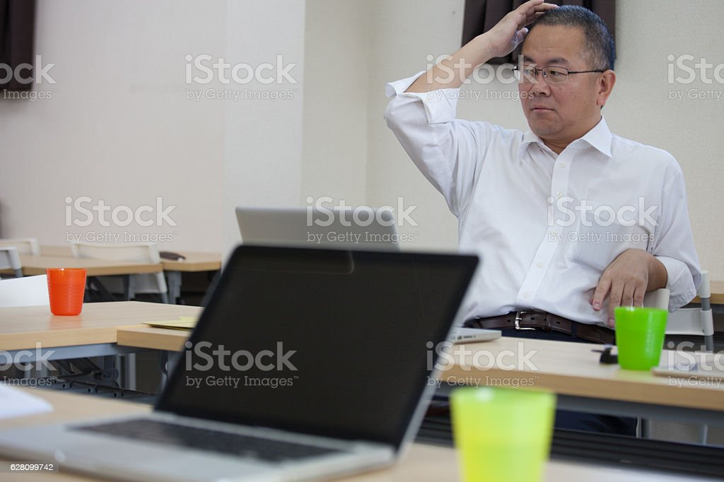Japanese business people stock photo