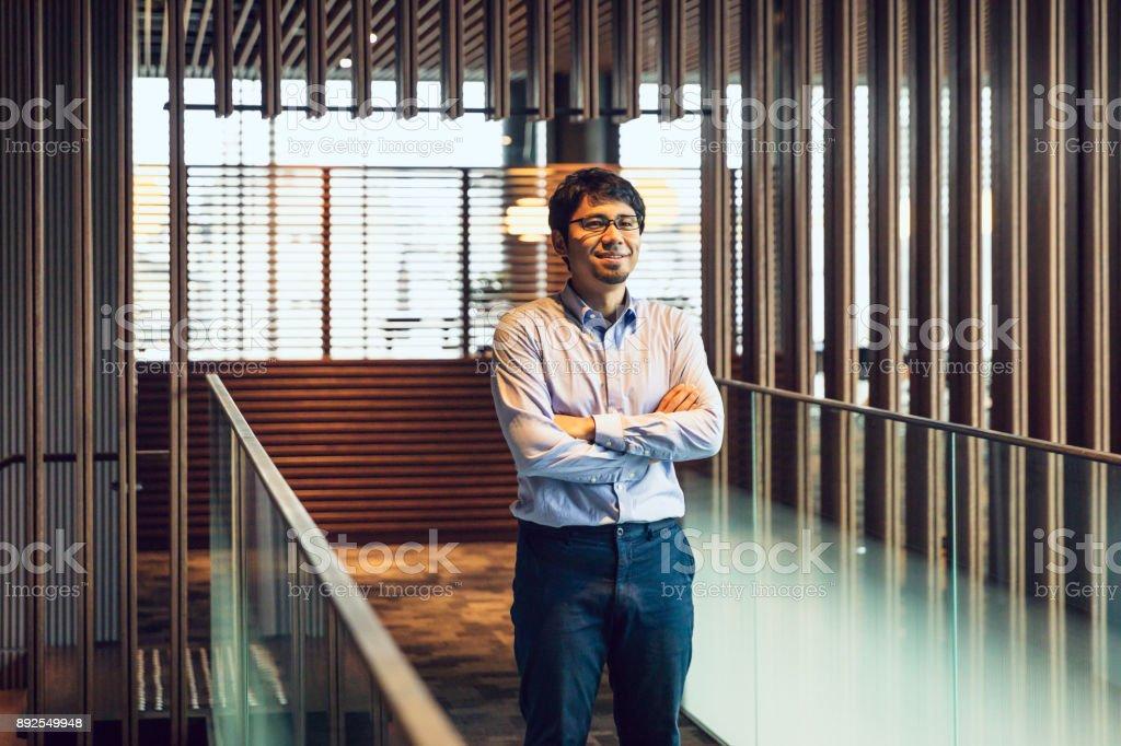 日本のビジネスの肖像画 ストックフォト