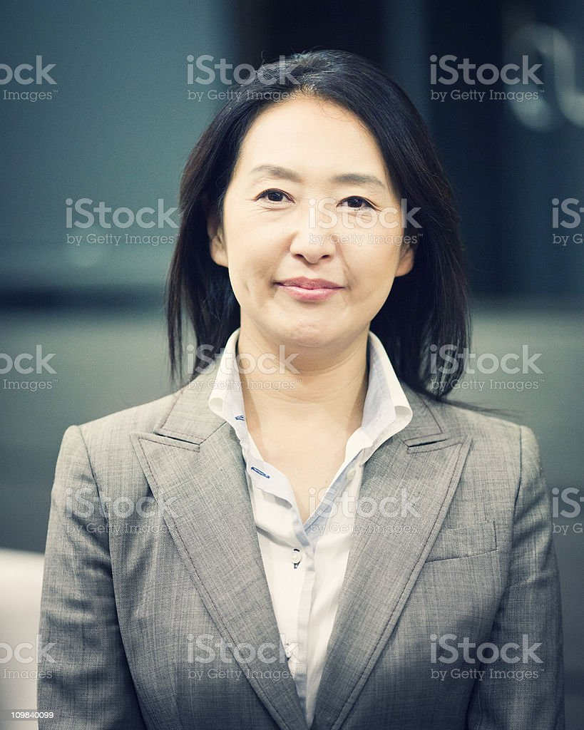 japanese business woman royalty-free stock photo