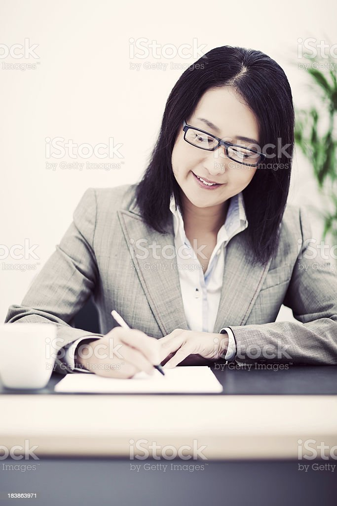 Japanese Business Woman stock photo