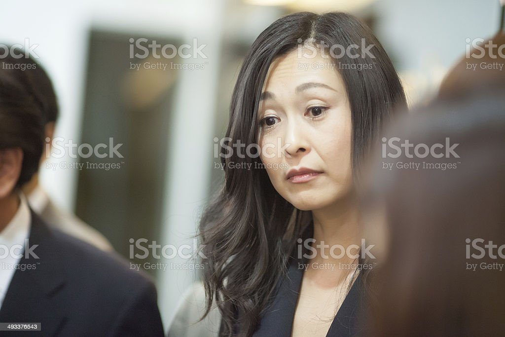 japanese business woman stock photo