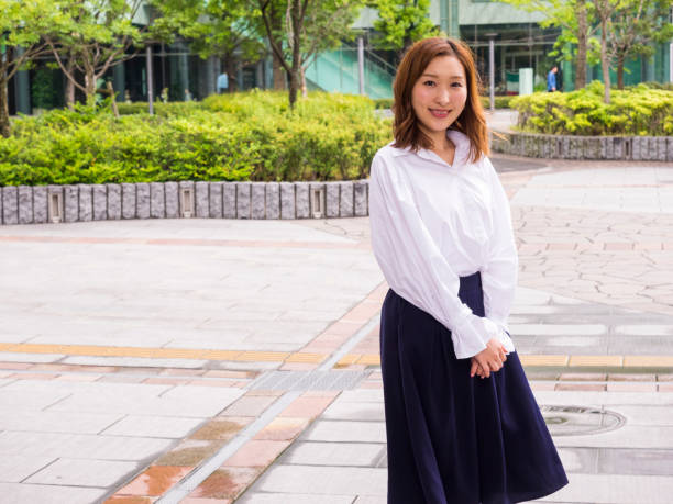 Japanese business woman. stock photo