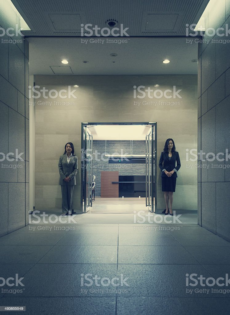japanese business women stock photo