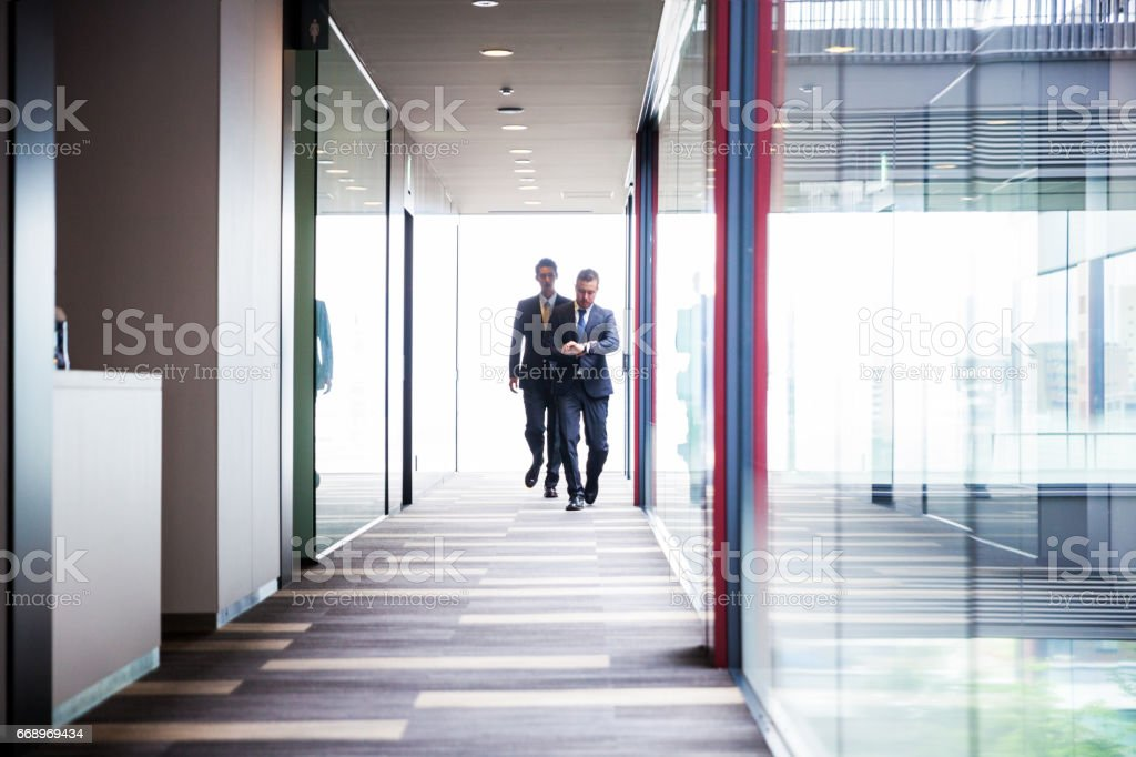Japanese businessmen in the office foto stock royalty-free