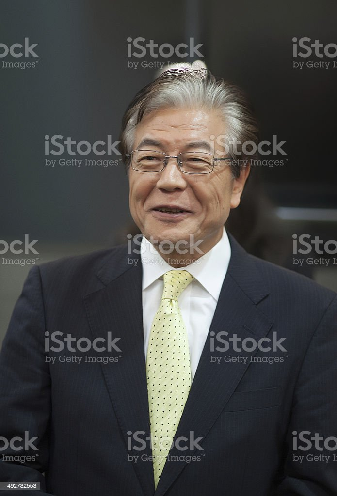 japanese businessmen stock photo