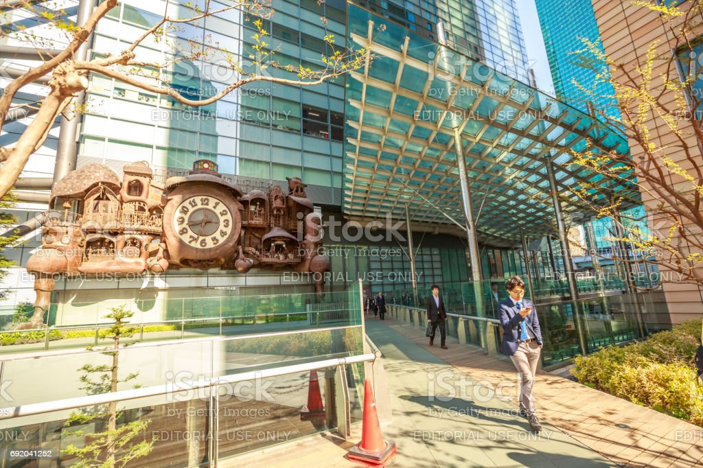 Japanese businessmen walking stock photo