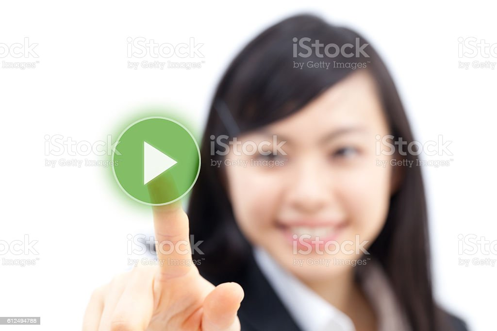 Japanese businesswoman making gestures - foto de stock