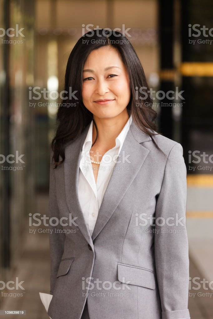 Japanese Businesswoman royalty-free stock photo