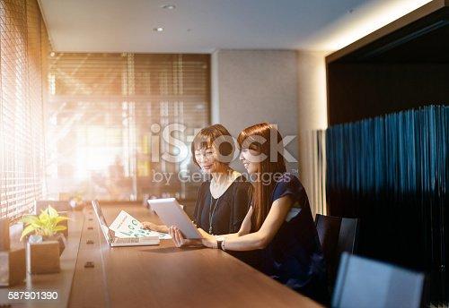 589445574istockphoto Japanese businesswomen developing business strategy 587901390