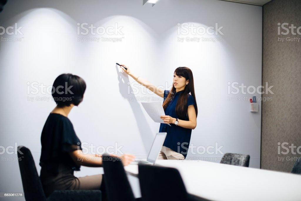Femmes daffaires travaillant dans le bureau moderne japonaise