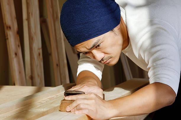 日本のカーペンター - 大工 ストックフォトと画像