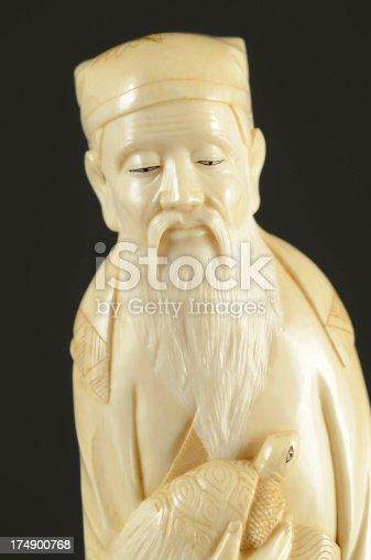 istock Japanese Carved Ivory Man, 19th Century 174900768