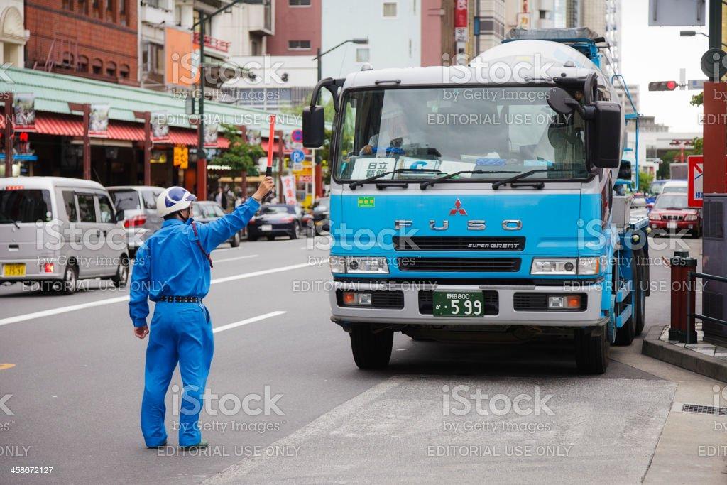 Japanese Cement Truck stock photo