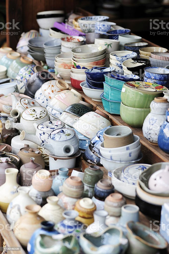 Japanese ceramics royalty-free stock photo