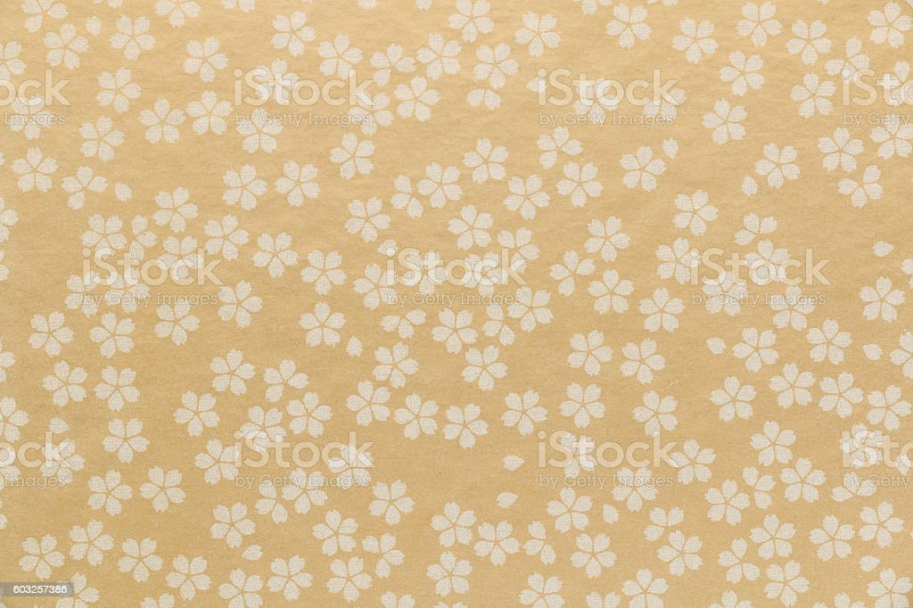 Japanese cherry blossom paper texture background stock photo