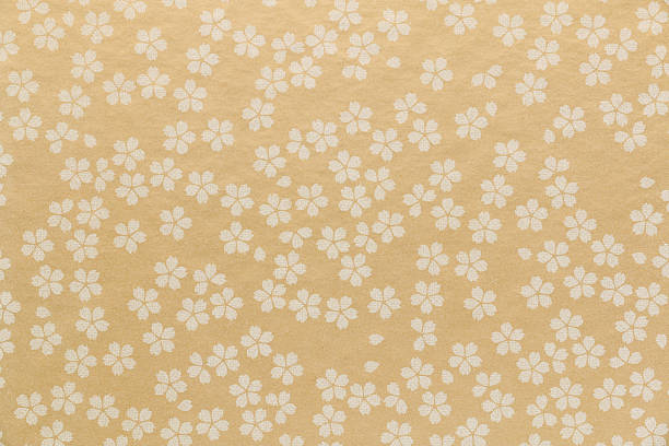 japanese cherry blossom paper texture background - japan pattern 個照片及圖片檔