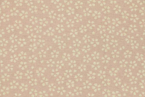 japanische kirschblüte muster traditionellen papier textur hintergrund - japanpapier stock-fotos und bilder