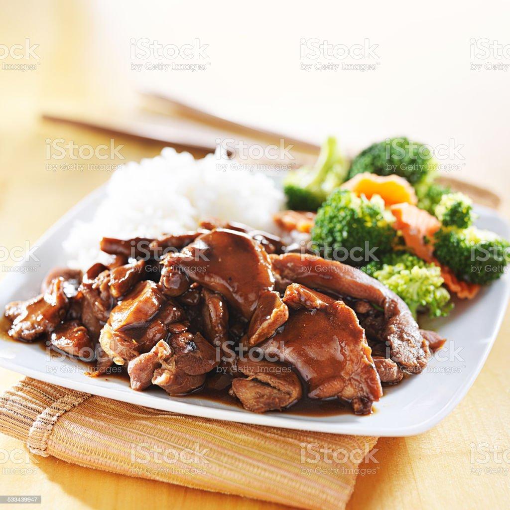 japanese chicken teriyaki stock photo