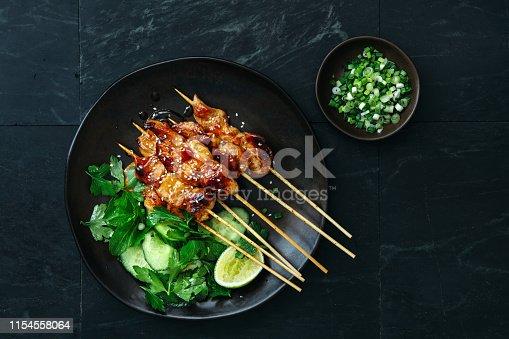 istock Japanese chicken yakitori skewers 1154558064