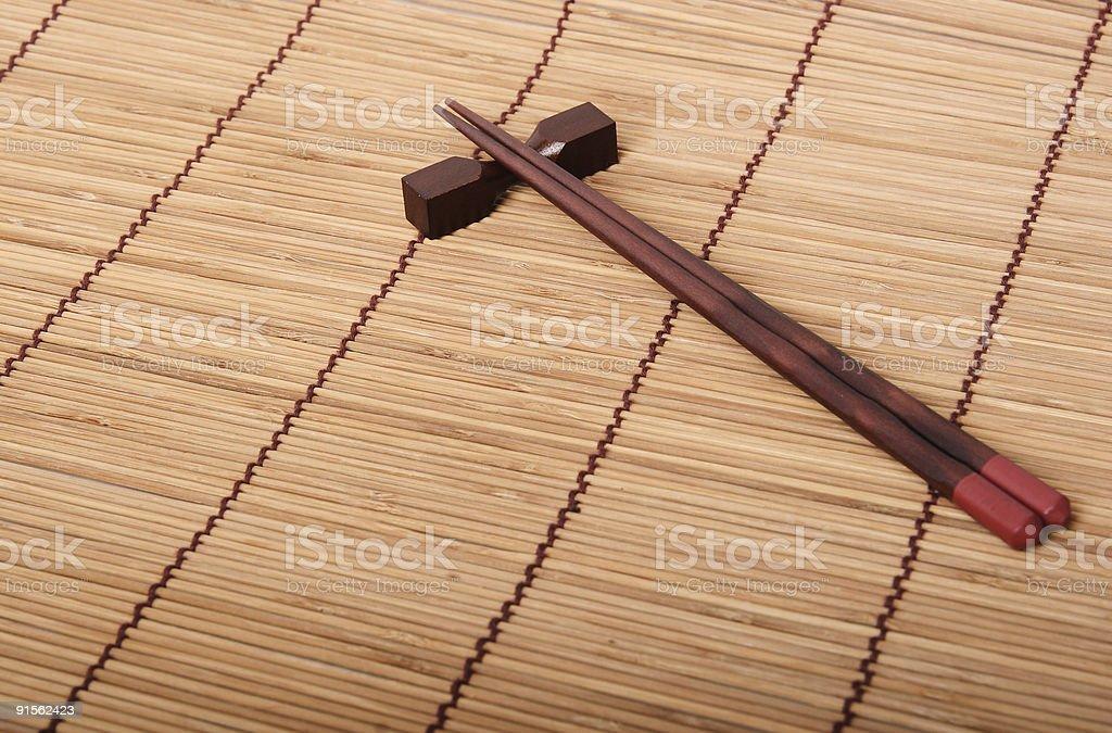 Japanese chopsticks royalty-free stock photo