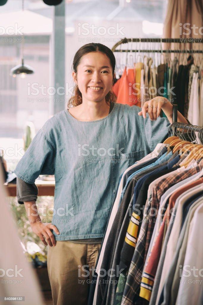 Japanese Clothing Shop stock photo