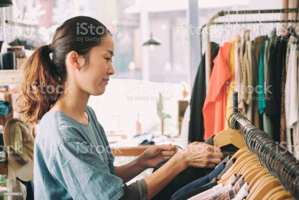 Japanese Clothing Shop royalty-free stock photo