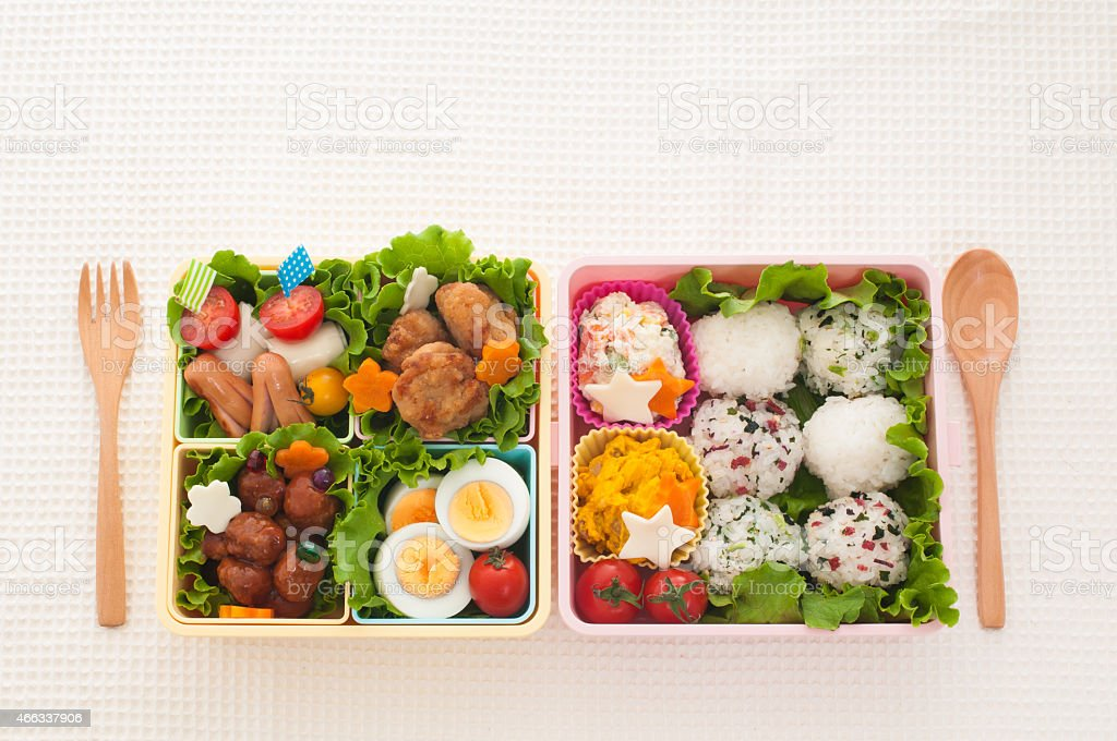 Japanese colorful lunch stock photo