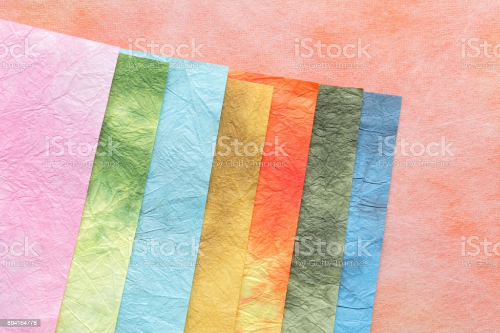 Japanese colorful paper texture background royalty-free stock photo