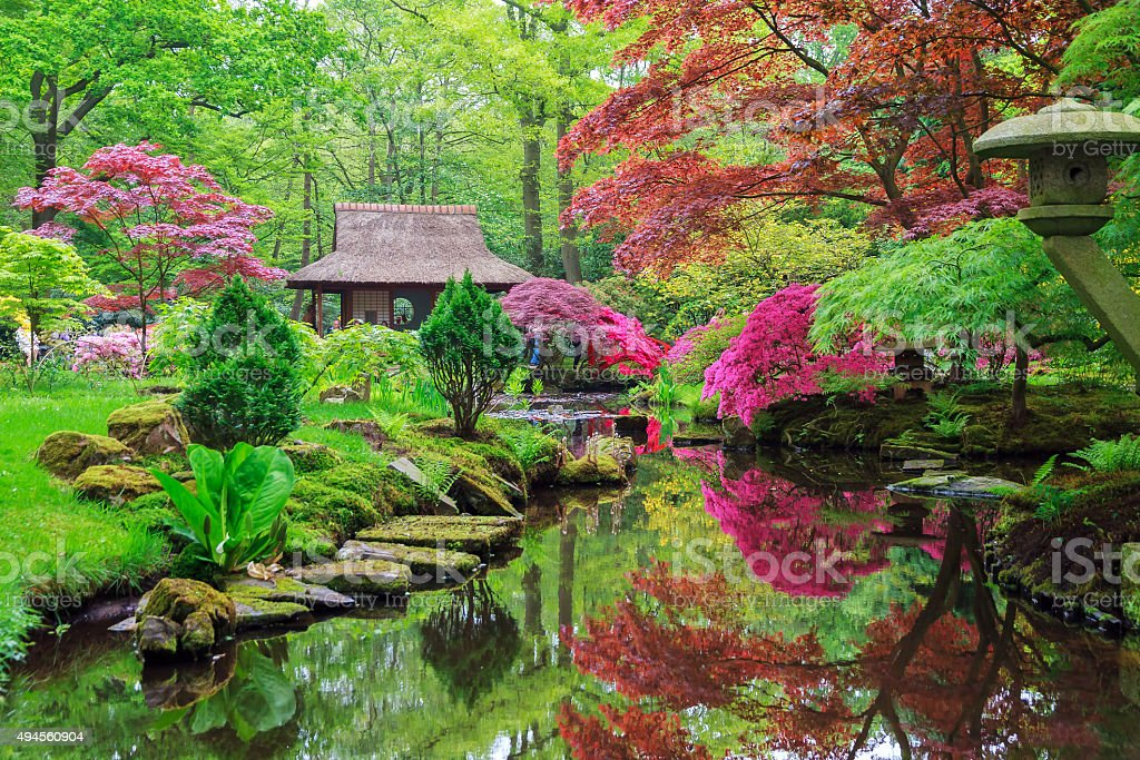 Japanese colors stock photo