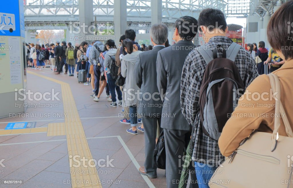 Japanese commuter Kanazawa Japan stock photo