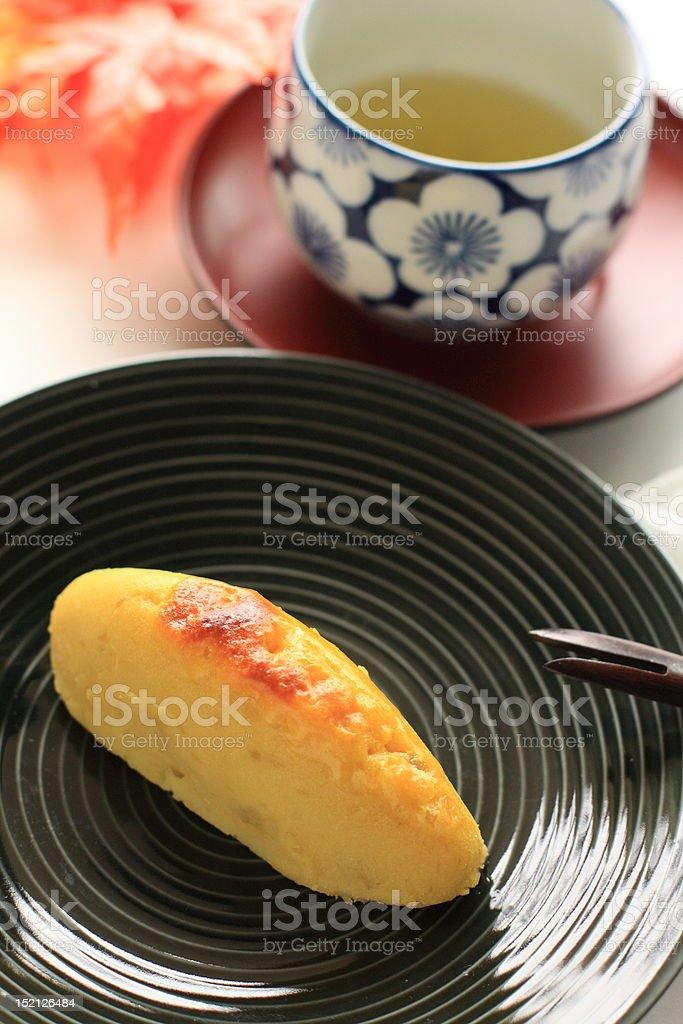 Japanese confectionery, sweet potato royalty-free stock photo