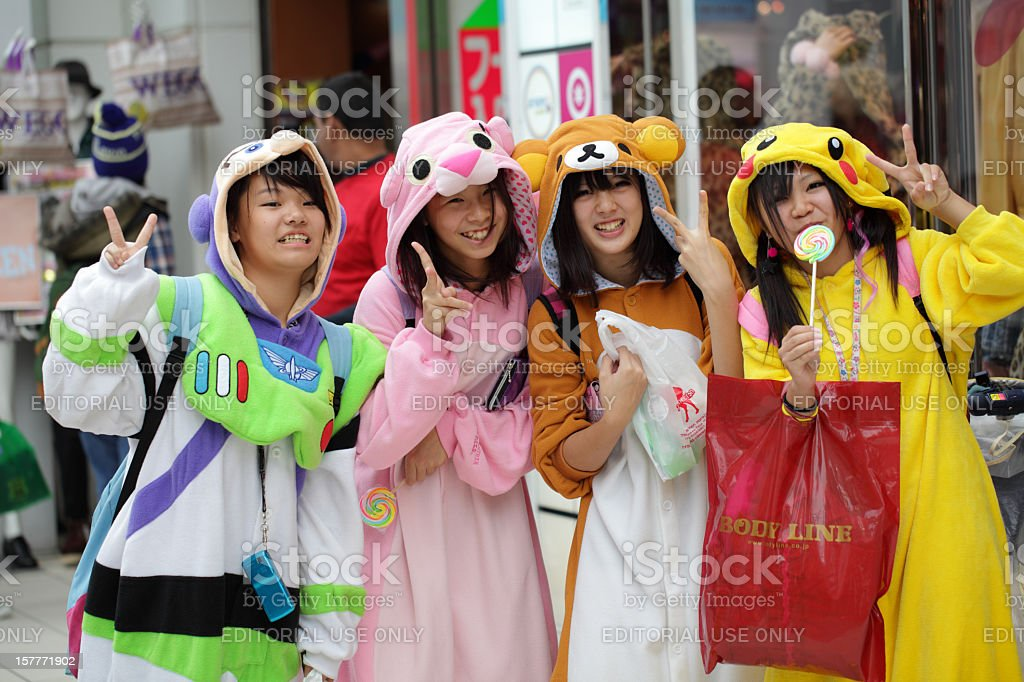 Japanese costume players stock photo