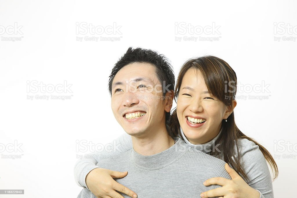 Japanese couple royalty-free stock photo