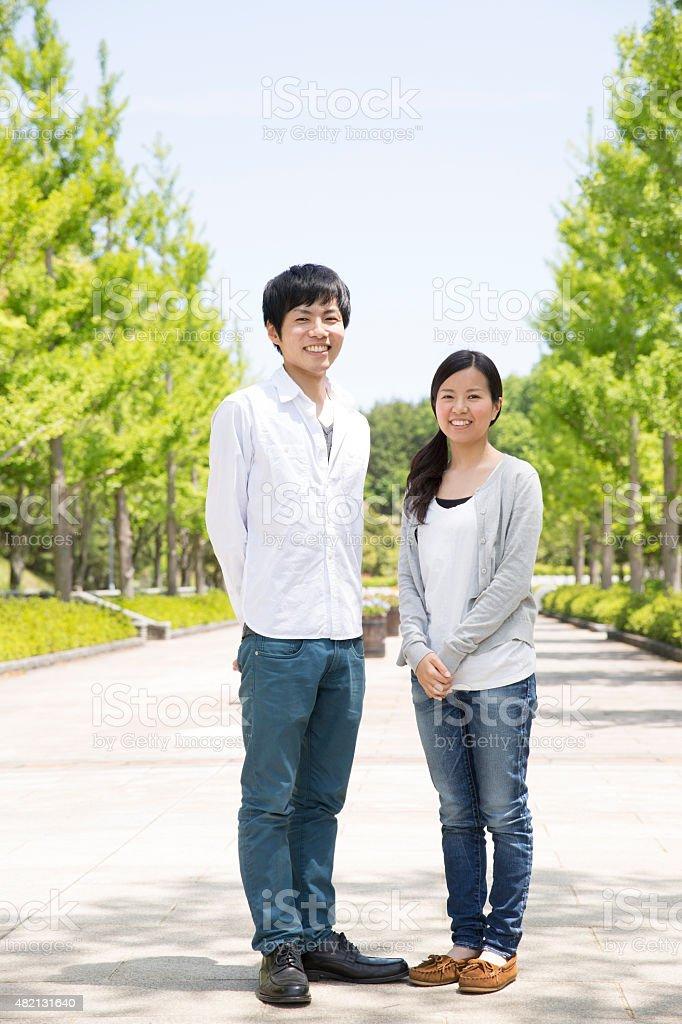 日本のカップル ストックフォト
