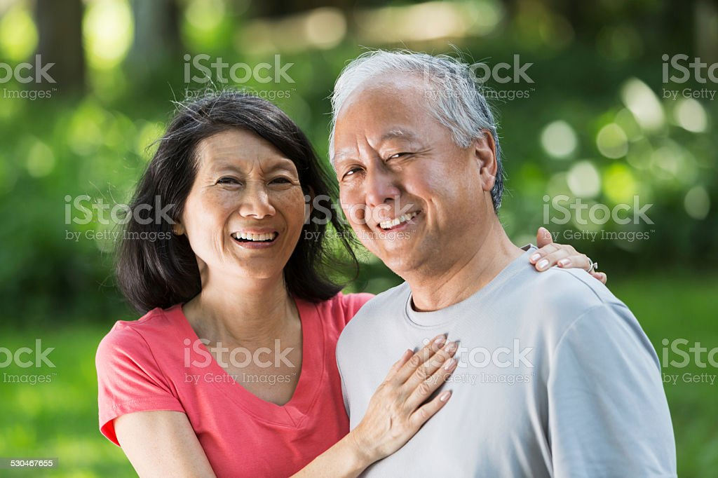 Japanese couple. stock photo