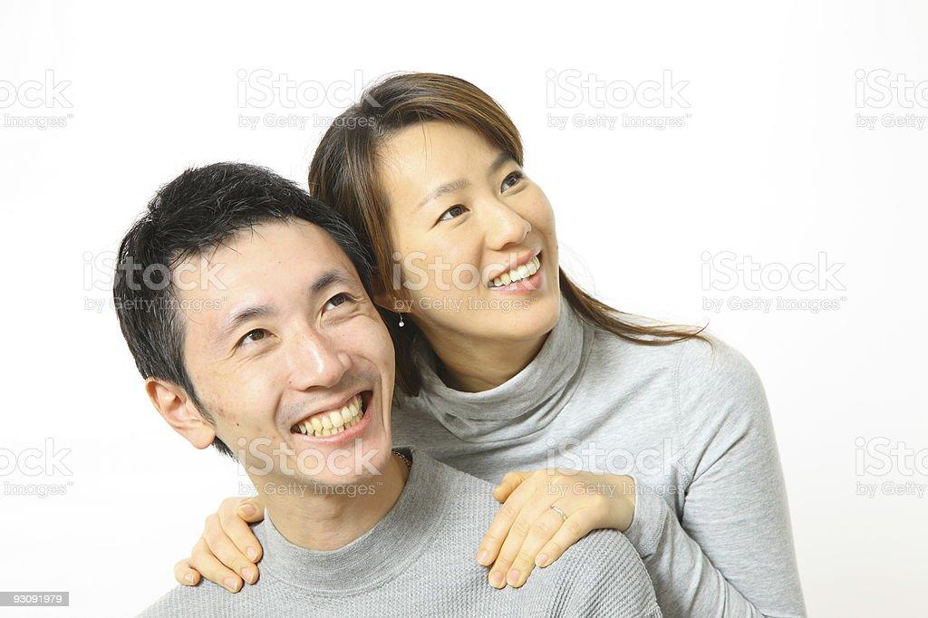 Japanese couple royalty-free stock photo