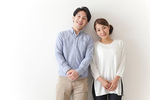 Japanese couple smiling - Photo