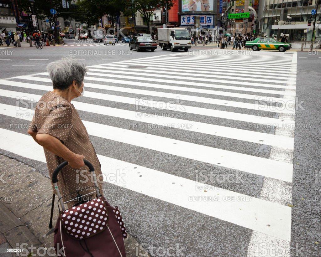Japanese Crosswalk stock photo