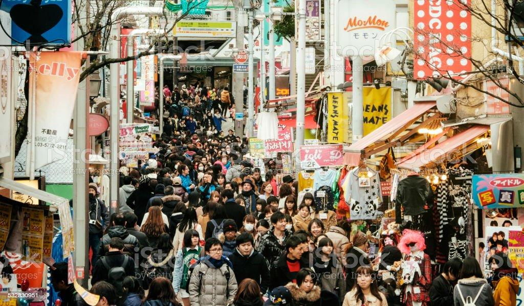 Japanese Crowd royalty-free stock photo