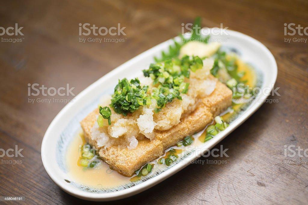 Japanese cuisine Aburaage stock photo