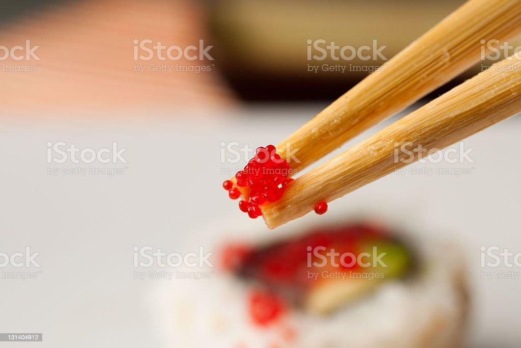 Japanese Cuisine - Caviar royalty-free stock photo