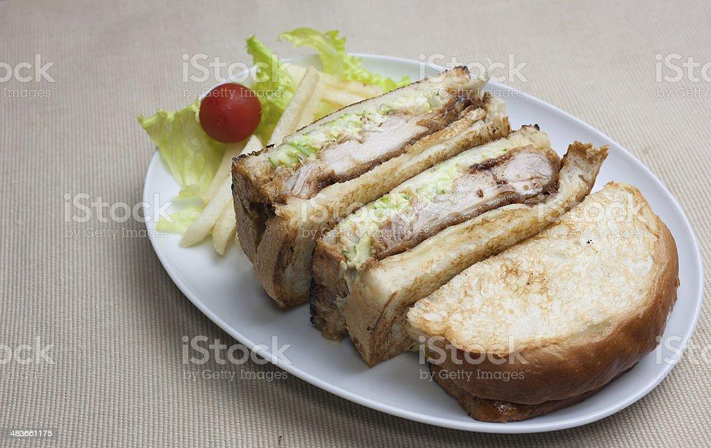 Japanese Cuisine Chicken sandwich stock photo