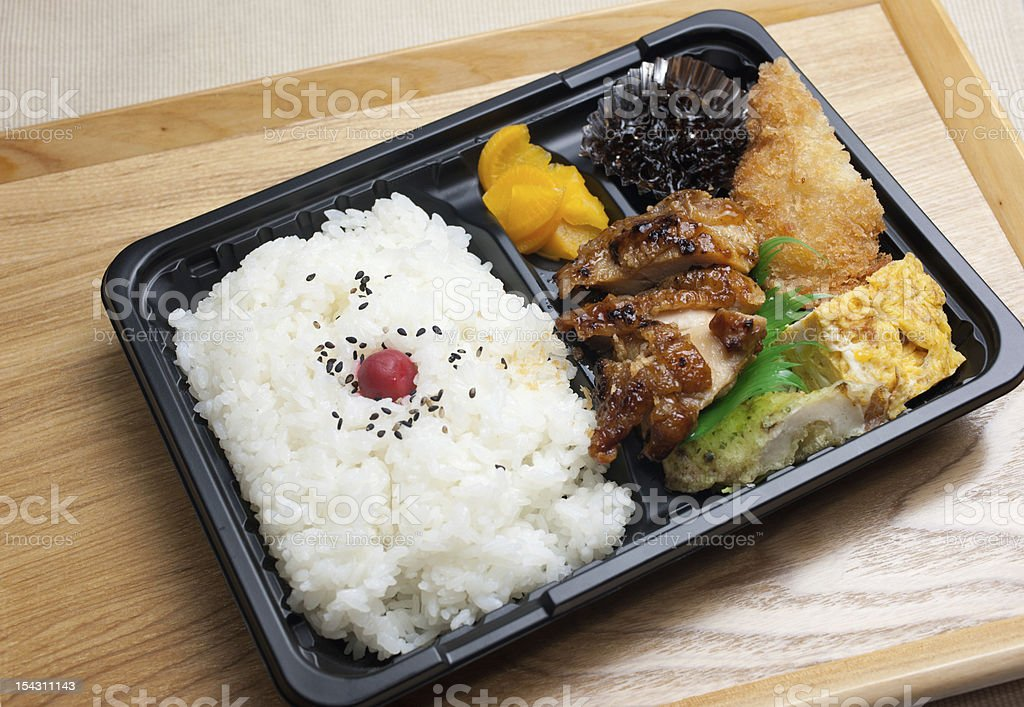 Japanese Cuisine Chicken Teriyaki Bento stock photo
